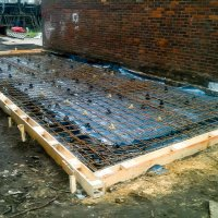 Piled Reinforced slab ready for concrete - Whitechapel - London