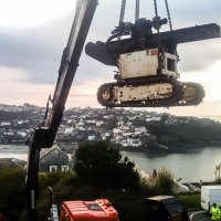 Restricted Access Mini-piling - Fowey - Cornwall