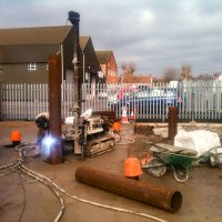 Driven piles for training tower at Bridgwater Fire Station - Somerset